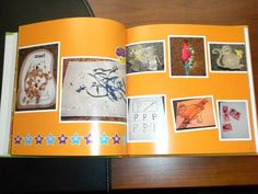 Scan art.  Save. Let child name each piece.  Ditch artwork.  Save tons of room.  Make book.  Keep memories forever.