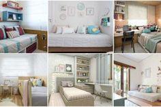 Cómo pintar una habitación para que parezca más grande Colored Ceiling, White Ceiling, Youth Rooms, Color Stripes, Room Paint, Bunk Beds, Ideas Para, Kids Room, Colours