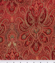 Yoke and sleeve accent Brocade Fabric-Burgundy-Hunter Tapestry , , hi-res