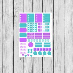 April Monthly Planning Sticker Sheet: Erin Condren, Filofax, Plum Paper, Kikki K
