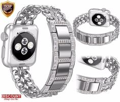 For Apple Watch Bracelet Band 42mm Stainless Steel Strap Rhinestone Wrist Series #ForAppleWatchBraceletBand
