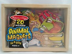 Melissa & Doug 20 Animal Magnets, Wooden Box, Pre-School, Toddler Kids Game #MelissaDoug