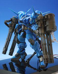 "YAMS-130B Greifer. Magnificent scratchbuilt by ""Takuya"". (Source: http://www.style-s.jp/self_ex/models/GREIFER/GREIFER_1.html) #GunPla"