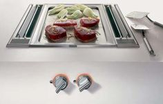 The Gaggenau Vario Teppan Yaki grill, VP 421 belongs to the Vario line which we will cover in detail later. This Teppan Yaki is the Read Kitchen Butlers Pantry, Kitchen Vent, Luxury Kitchens, Cool Kitchens, Teppan Yaki Grill, Cooking Appliances, Kitchen Appliances, Teppanyaki, Cool Kitchen Gadgets