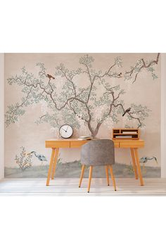 Buy Exclusive To Next Oriental Tree Wall Mural by Eighty Two from the Next UK online shop Tree Wall Murals, Oriental, Dining Chairs, Repeat, Scale, Wallpaper, Rolls, Technology, Prints
