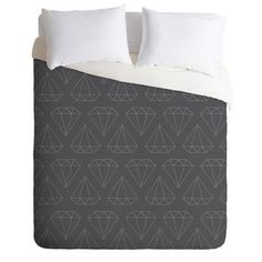 ($164) DENY Designs Home Accessories | Wesley Bird Diamond Print 1 Duvet Cover