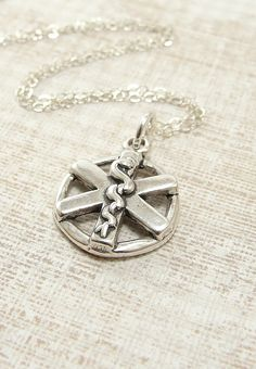 EMT Star of Life Necklace  Sterling Silver by treasuredcharms, $23.00