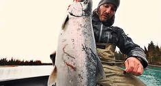 Donnie Vincent tackles heavyweight silver salmon on Alaska's Kenai River.