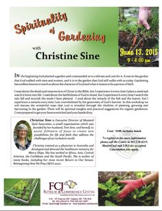Spirituality of gardening in Alberta Calgary