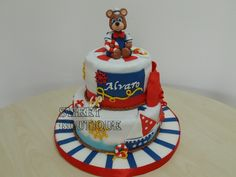 Tort cu ursulet marinar bear navy cake
