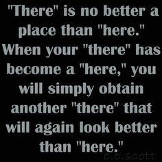 Here and there...