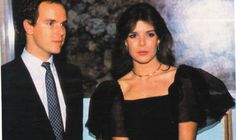 Princess Caroline and Prince Albert of Monaco.March,1983.
