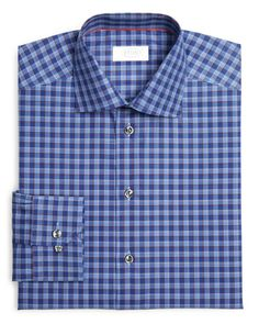 Eton of Sweden Plaid Regular Fit Dress Shirt