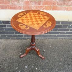 Antique Victorian Inlaid Games Table - Antiques Atlas, $302