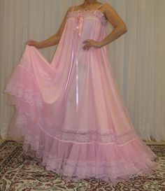 Vintage Lingerie, Women Lingerie, Plus Size Vintage, Prom Dresses, Formal Dresses, Plus Size Lingerie, Night Gown, Pretty In Pink, Ball Gowns