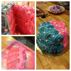 Gender reveal party cake #genderreveal #baby #cake
