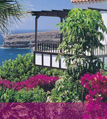 Hotel Jardin Tecina, La Gomera, Canary Islands, Spain. Beautiful setting, a botancial lover's paradise.