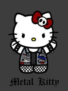 Haha metal kitty