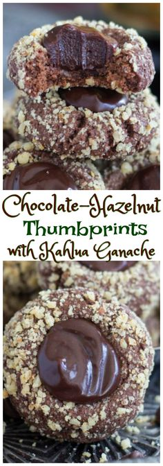 Chocolate-Hazelnut Thumbprints with Kahlua Ganache | The Gold Lining Girl