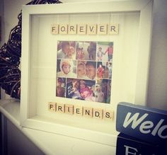 Scrabble art personalised photo picture framed gift idea for any occasion forever friends friends gift idea