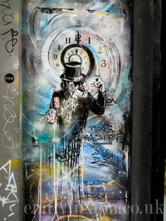 Amazing graffiti painting found on Brick Lane in London's East End. Check out my E1 street art walking route to find the best murals, paste-ups and installations around Brick Lane and Shoreditch: http://emilyluxton.co.uk/london/brick-lane-street-art-walk/