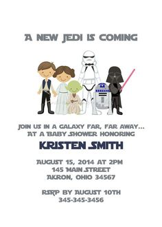 Star Wars Jedi Yoda Baby Shower Birthday By PhotoInvitations, $1.50:
