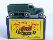 White no 49a Personnel Carrier Half Track Matchbox regular wheel almost mint box