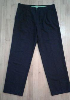 BOSS Hugo Boss Mens TALTONS Navy Blue Dress Pants Pleated 38x34 EUR 54   eBay