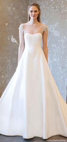 legends romona keveza spring 2018 bridal beaded cap sleeves semi sweetheart a line wedding dress (l8125) mv sheer back buttons train elegant -- Legends Romona Keveza Spring 2018 Wedding Dresses