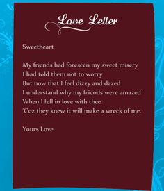 Funny love letters for her can be a real mood setter for a great day.