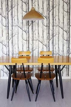 dining room - cole and son woods wallpaper