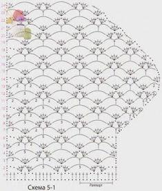 Size: Need: 450 g white yarn microfiber, 50 m); Crochet Cardigan Pattern, Crochet Tunic, Crochet Stitches Patterns, Crochet Shoes, Sweater Knitting Patterns, Crochet Motif, Crochet Clothes, Stitch Patterns, Knit Crochet