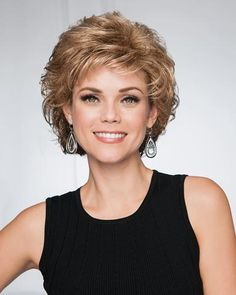 Create a stir in this softly curled shag cut. Lightweight, natural looking and designed to turn heads everywhere you go. Get it now from BeautyTrends. Short Hair With Layers, Short Hair Cuts For Women, Layered Hair, Short Curly Hair, Wavy Hair, New Hair, Afro Hair, Hair Updo, Medium Hair Styles