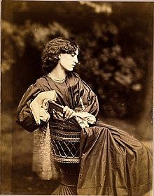 Jane Morris-- (née Jane Burden; 19 October 1839 – 26 January 1914) was an English artists' model who embodied the Pre-Raphaelite ideal of beauty. She was a model and muse to William Morris (1834 – 1896), the English textile designer, poet, novelist, translator, and socialist activist, whom she later married, and to Dante Gabriel Rossetti.