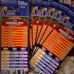 Our new football schedule magnets for our clients. Crossley Hogan Real Estate with Better Homes and Gardens Real Estate Kansas City