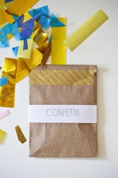 Confettis chutes de papier