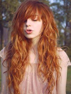 Ginger Brown Shaggy Layers- Long layered haircuts with bangs