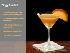 Zingy Martini mocktail - Get in the festive spirit with these healthy mocktail recipes #cocktail #mocktail #drink #christmas #healthy