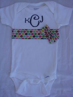 AuntTeague Creations: Adorable Little Girl Onesies