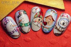 Photo nail designs coffinelegant nail designs for short nails self adhesive nail stickers nail art stickers walmart nail stickers walmart Holiday Nail Designs, Winter Nail Designs, Nail Art Designs, Christmas Nail Art, Holiday Nails, Mery Crismas, Natural Nail Art, Crazy Nail Art, Kiss Nails