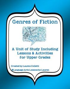 "Teach Genre of Fiction with this 70 + page unit! Genre is a perfect ""Anytime Unit"" because it serves as the perfect introduction. I begin each school year by introducing or reviewing Genres of Fiction. This unit of study is packed with engaging, high-interest activities your kids are sure to love."