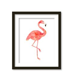 Flamingo, Nursery Print, Beach Nursery, Pink, Tropical Nursery, Beach Nursery, pink watercolor, flamingo art, flamingo print, love flamingos  This