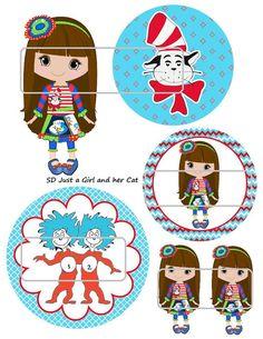 DIY Printable Just a Girl and her Cat Shrinky Dinks by MaddieZee, $1.25