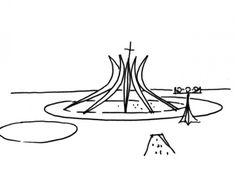 d8b4c24bd657 Hasta viajar a Europa fue mi Iglesia favorita. La Catedral de Brasilia  Oscar Niemeyer Futuristic