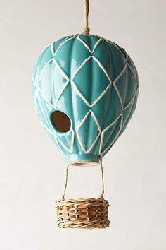 Air Balloon Birdhouse - anthropologie.com SO adorable!