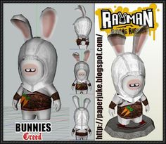Assassin's Creed - Raving Rabbids Bunny Free Papercraft Download