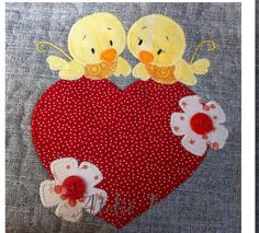 .cute applique- could be mug rug