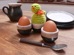Shanagarry Egg Cups by Stephen Pearce Pottery.