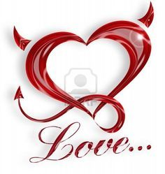 heart with devil horns and tail meaning - Google Search