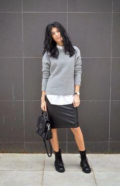 Leather style: 8 способов выглядеть сногсшибательно в кожаной юбке